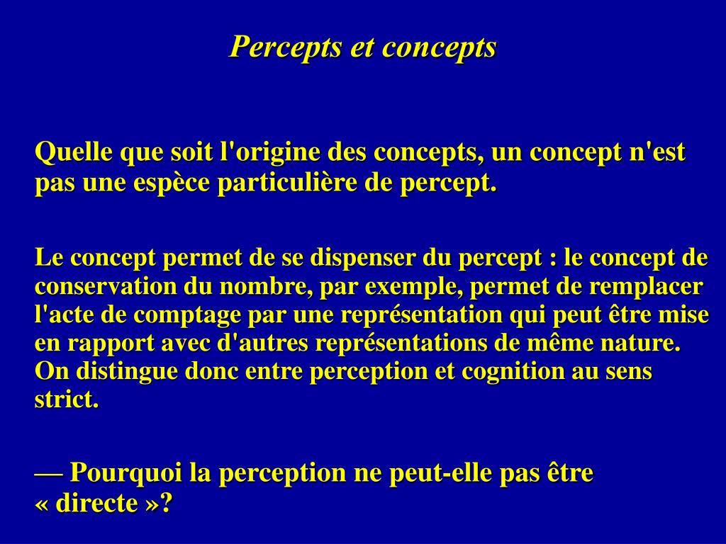 Percepts et concepts