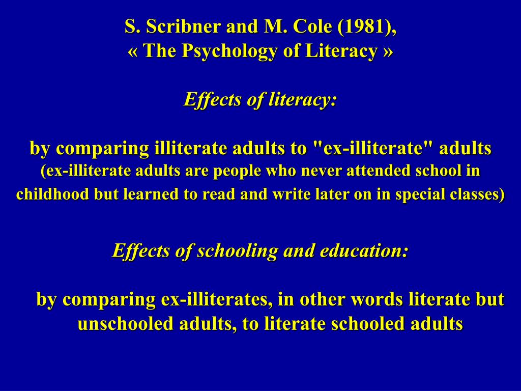 S. Scribner and M. Cole (1981),