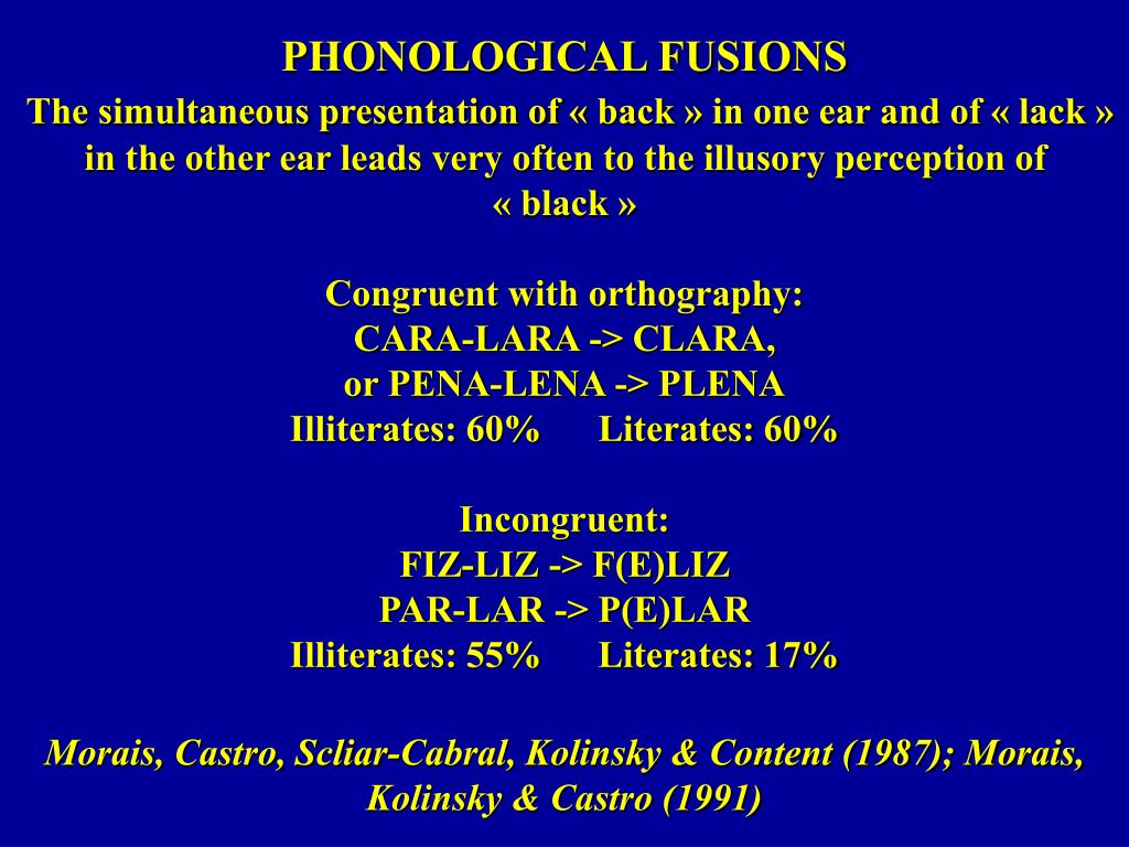 PHONOLOGICAL FUSIONS