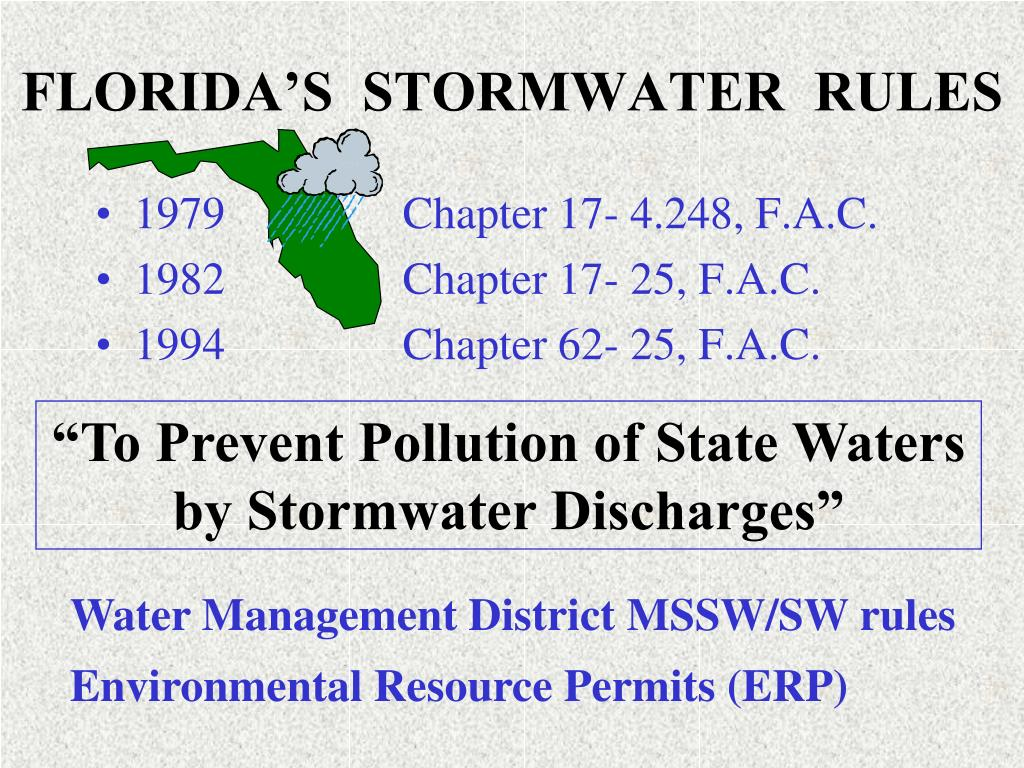 FLORIDA'S  STORMWATER  RULES