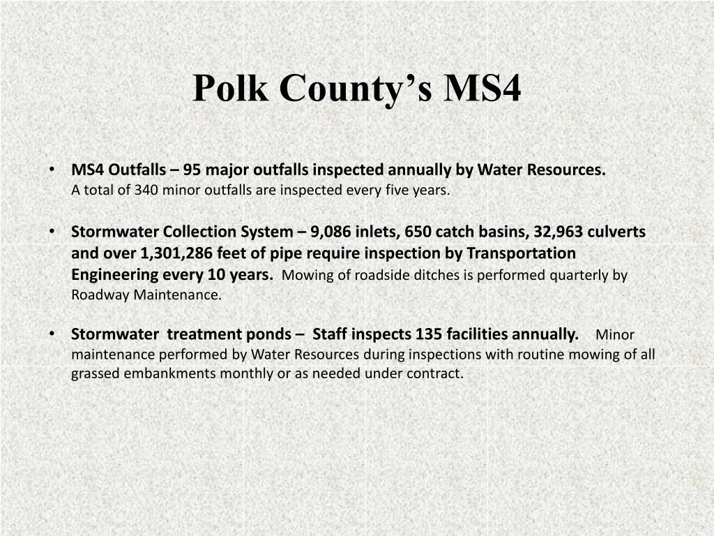Polk County's MS4
