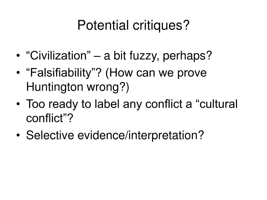 Potential critiques?