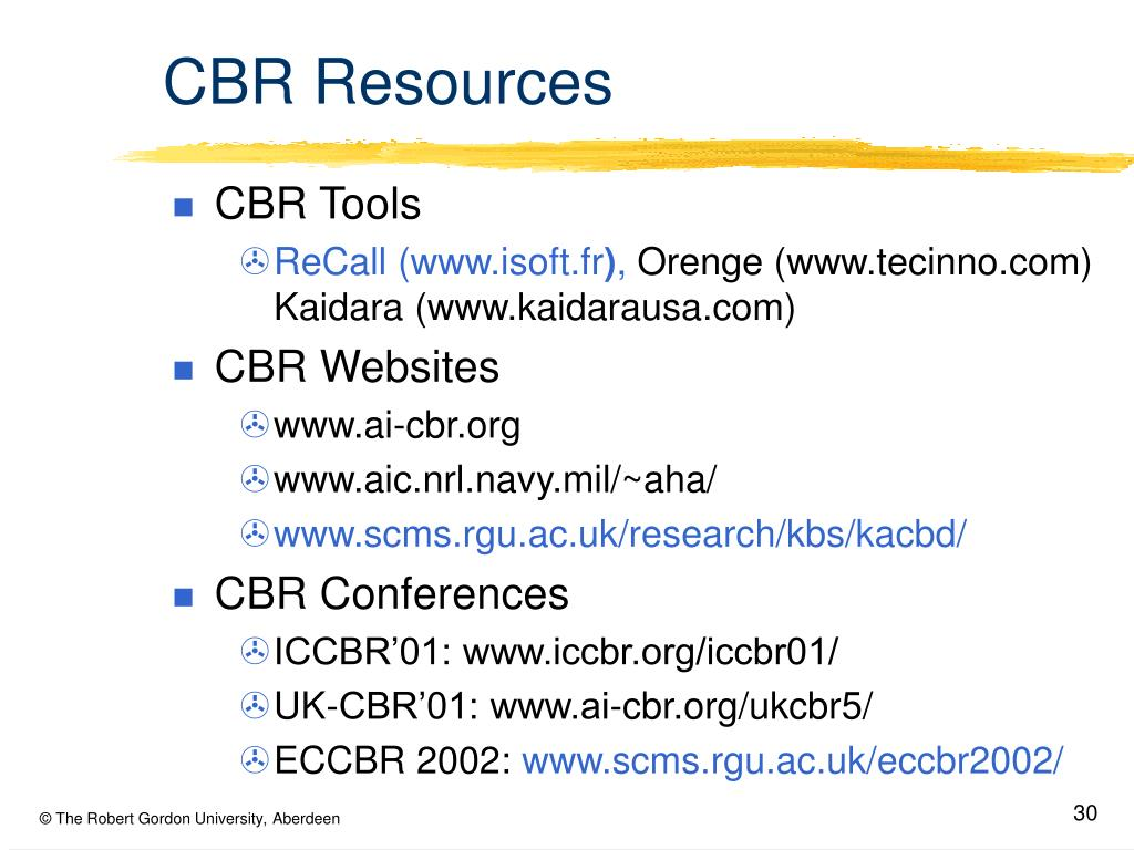 CBR Resources