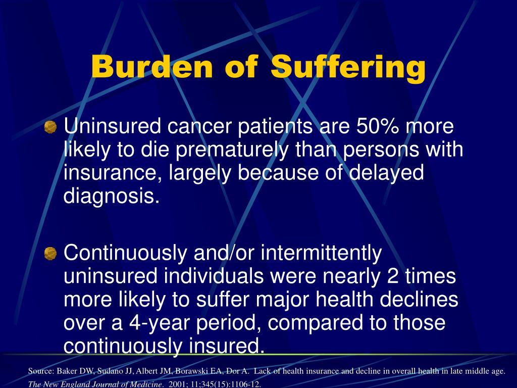 Burden of Suffering
