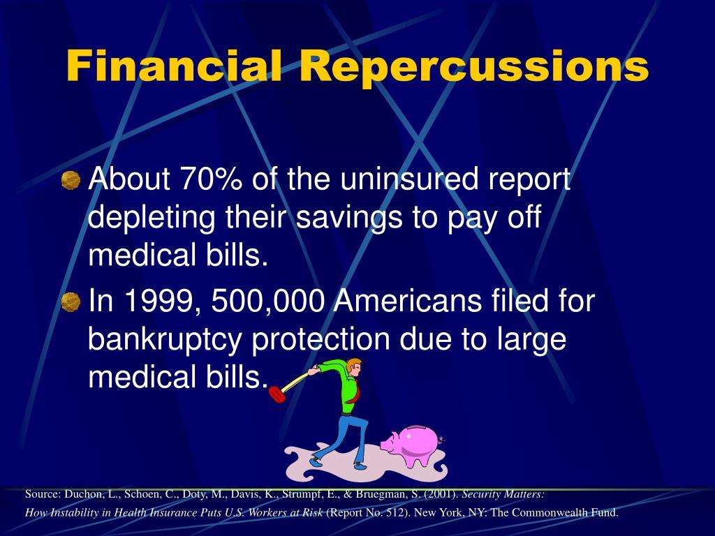 Financial Repercussions