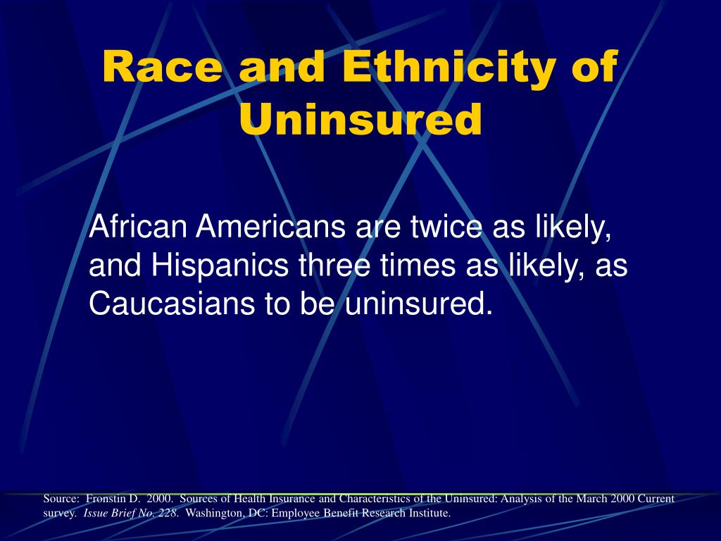 Race and Ethnicity of Uninsured