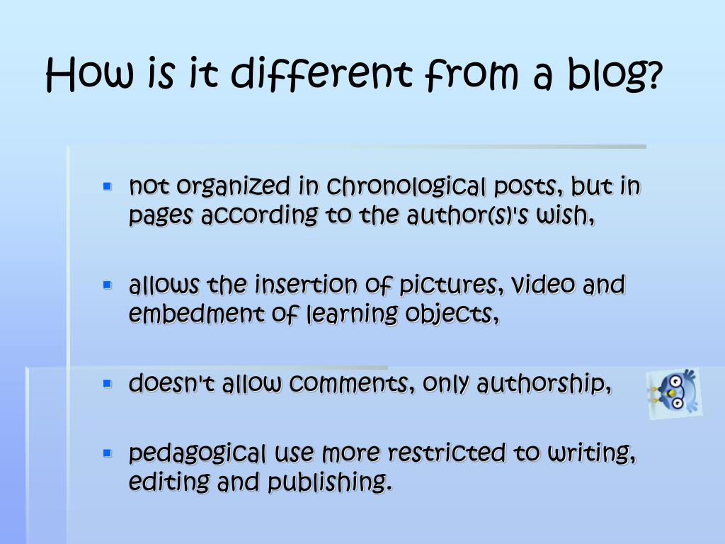 How is it different from a blog?