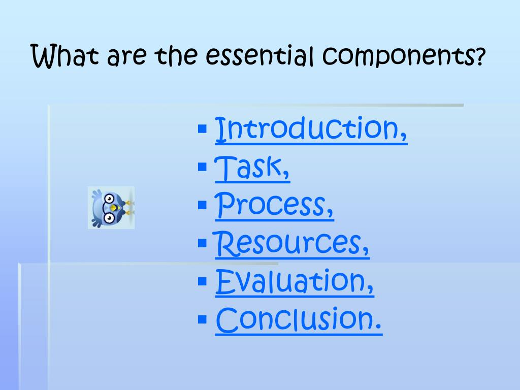 What are the essential components?