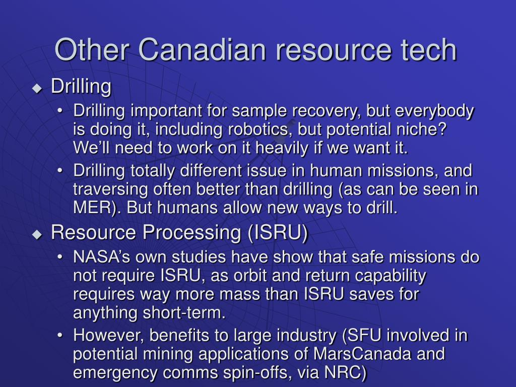Other Canadian resource tech