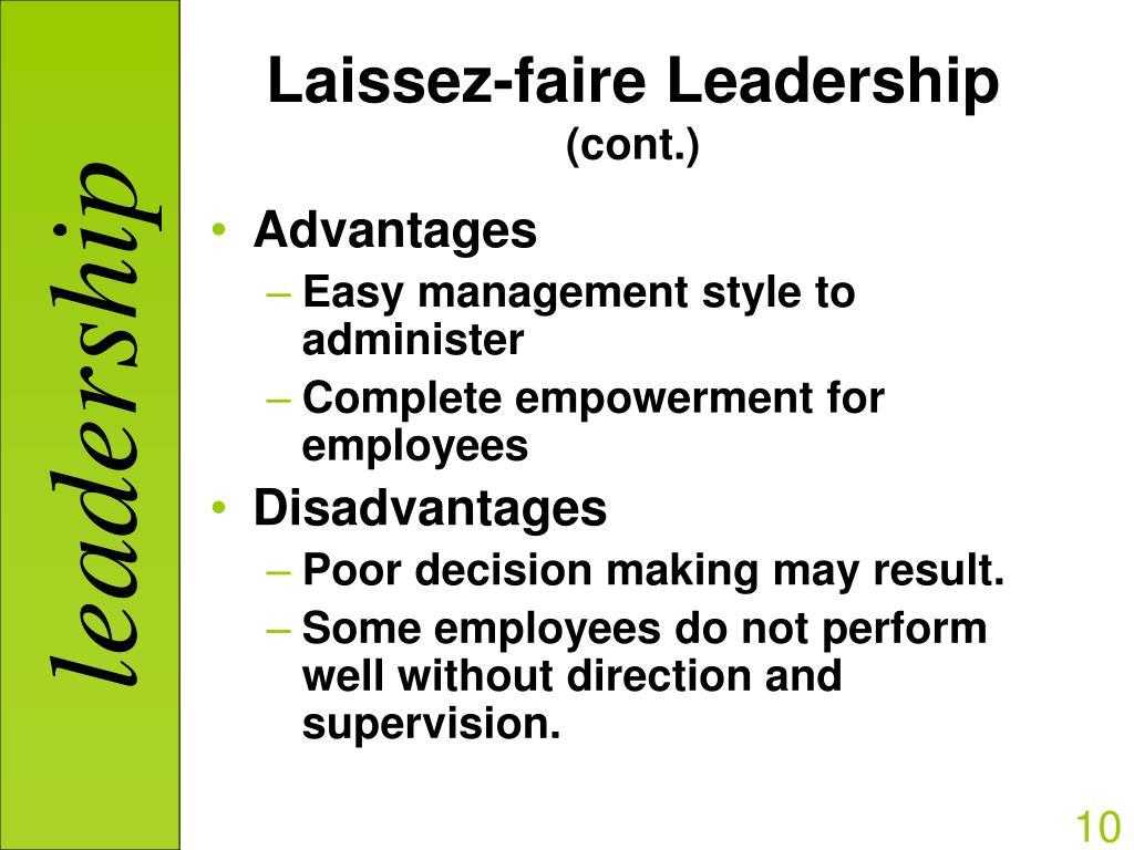 laissez faire style of leadership definition college paper