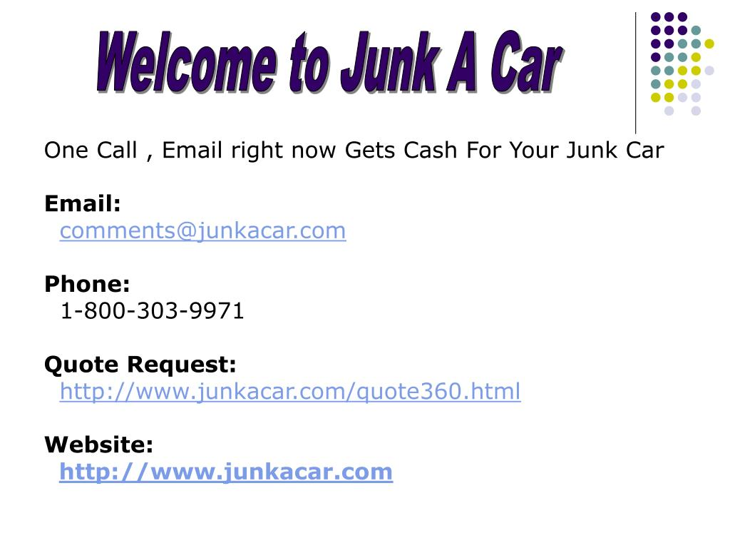 Welcome to Junk A Car