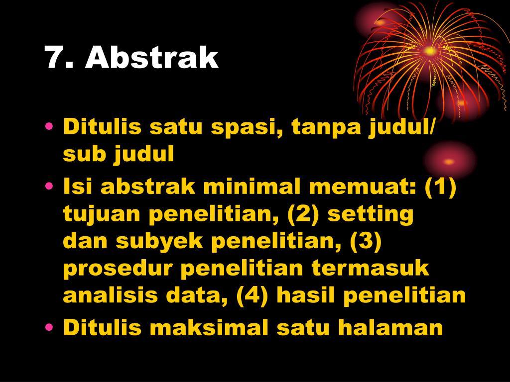 7. Abstrak