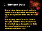 c sumber data