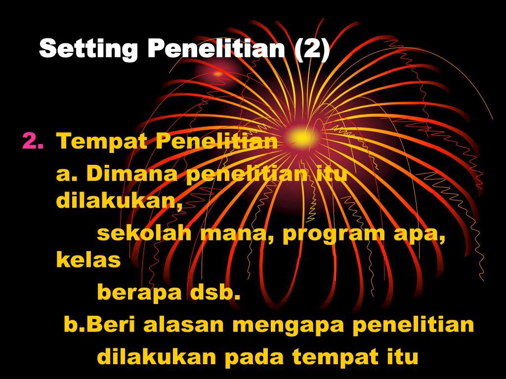 Setting Penelitian (2)
