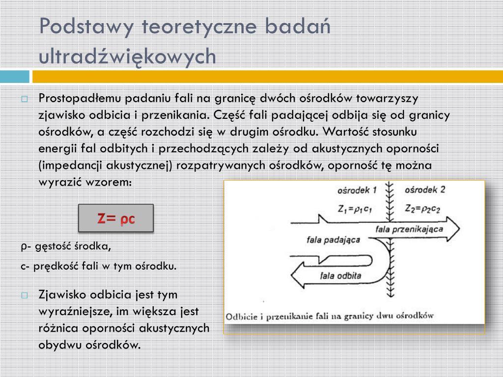 Podstawy teoretyczne badań ultradźwiękowych
