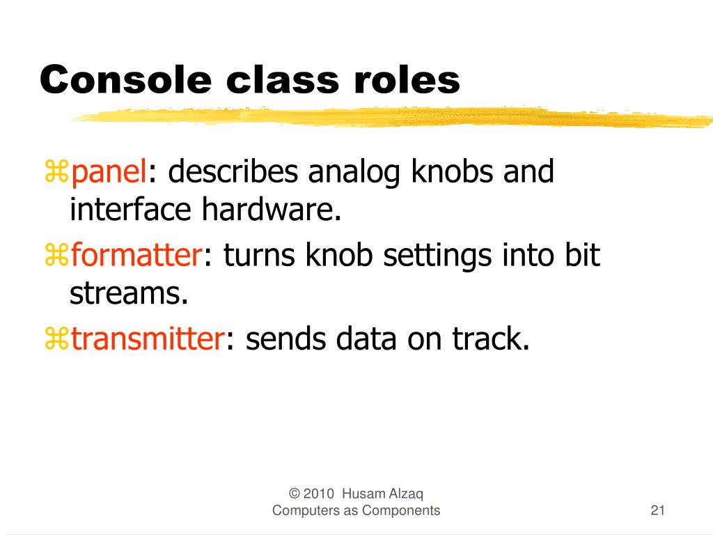 Console class roles