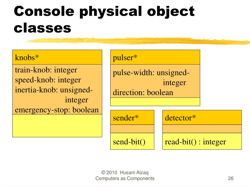 Console physical object classes