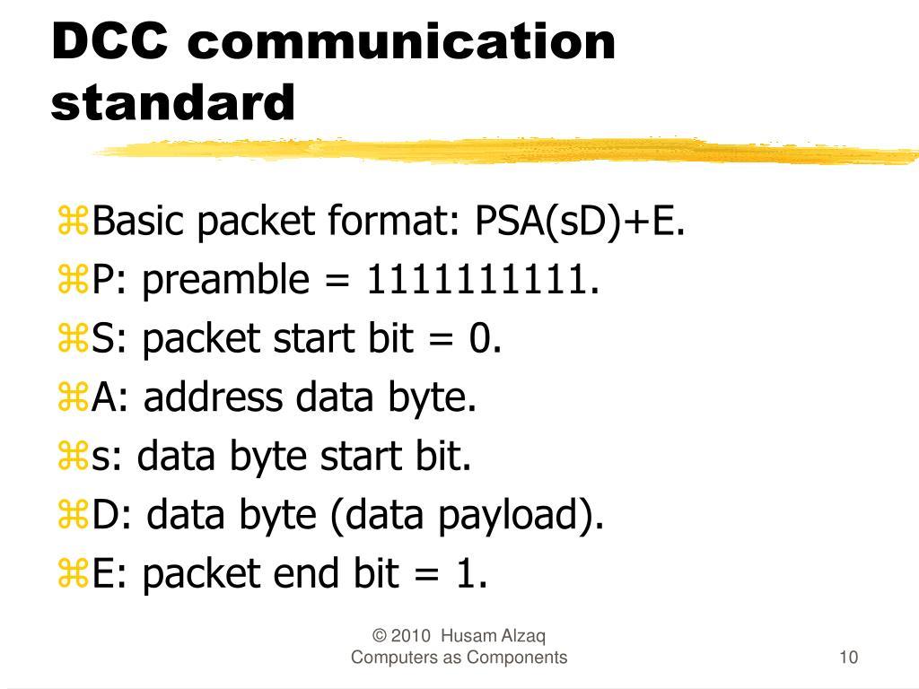DCC communication standard