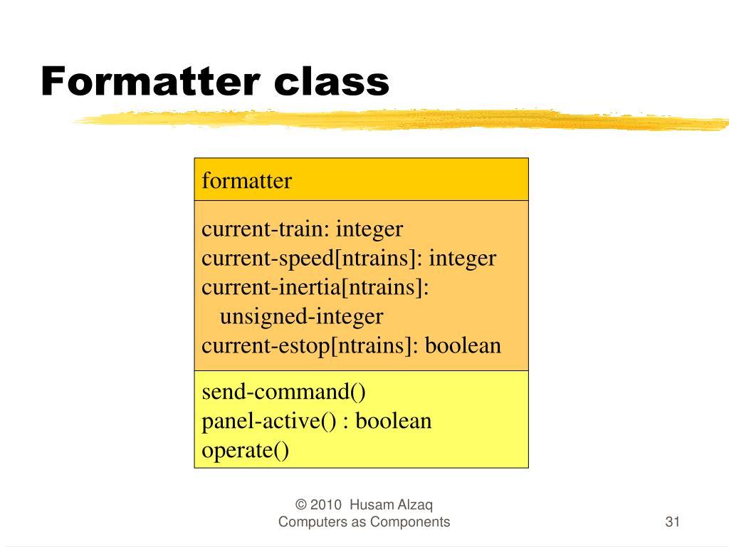 Formatter class