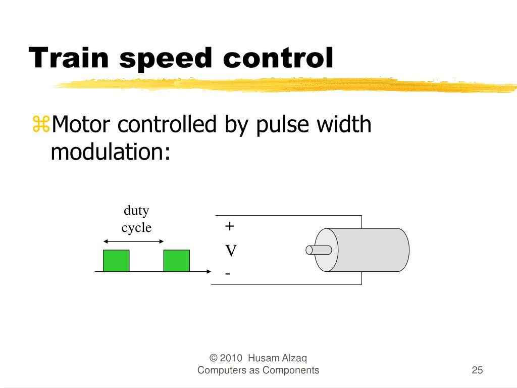 Train speed control