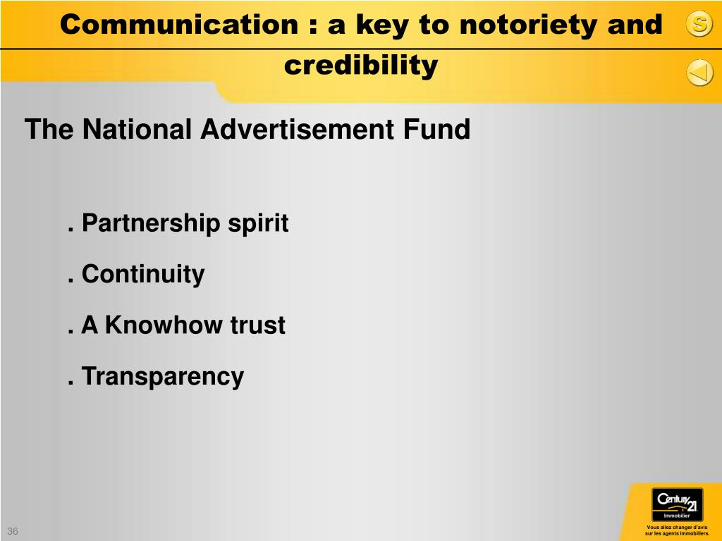 Communication : a key to notoriety and credibility