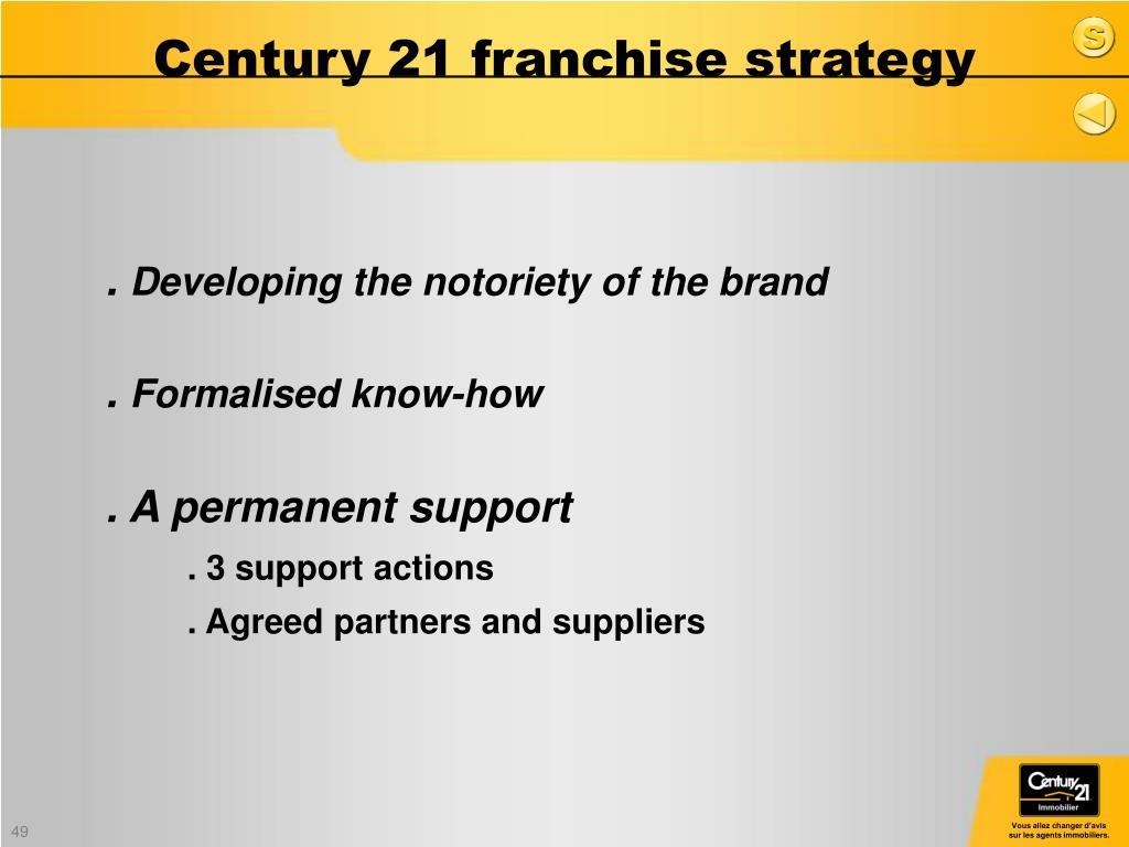 Century 21 franchise strategy