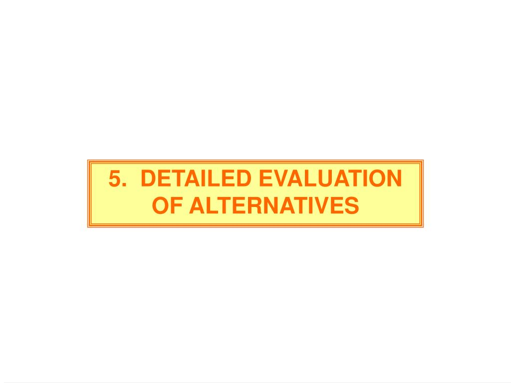 5.  DETAILED EVALUATION OF ALTERNATIVES