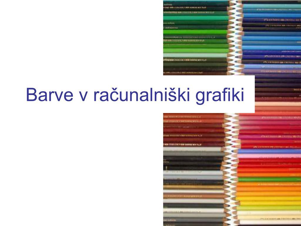 Barve v računalniški grafiki