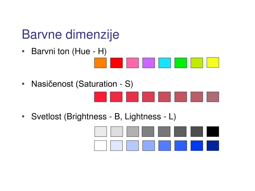 Barvne dimenzije