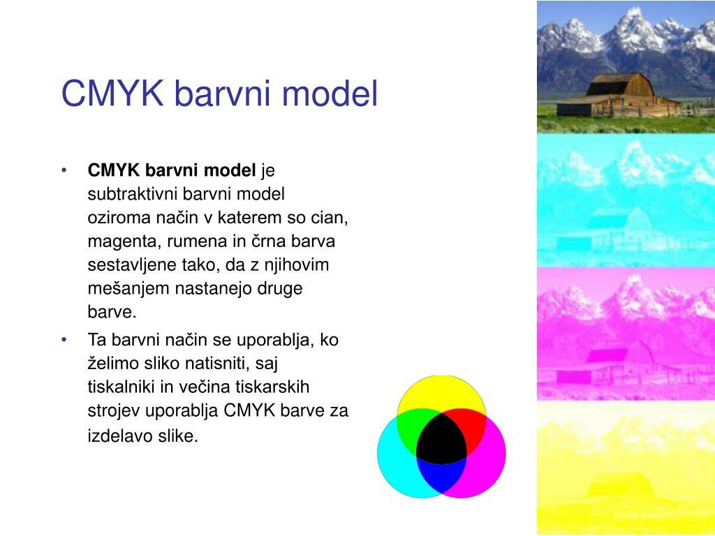 CMYK barvni model