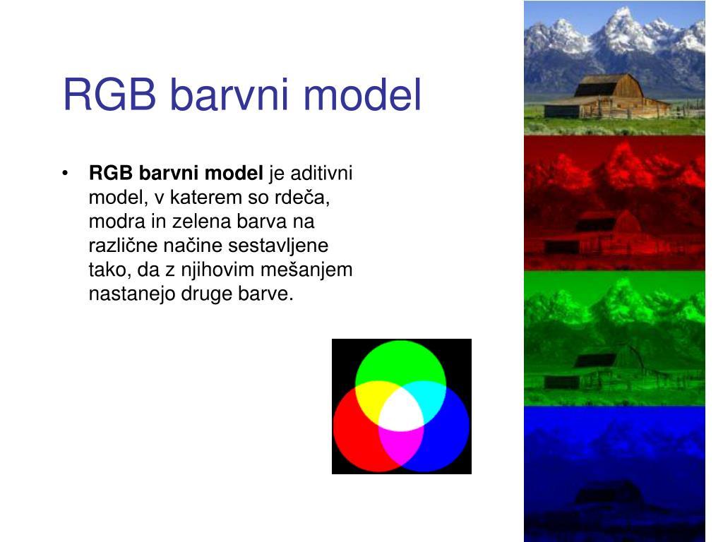 RGB barvni model