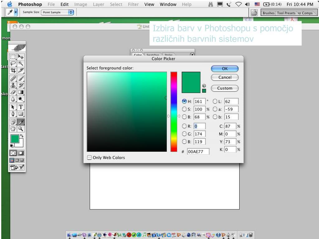 Izbira barv v Photoshopu s pomo