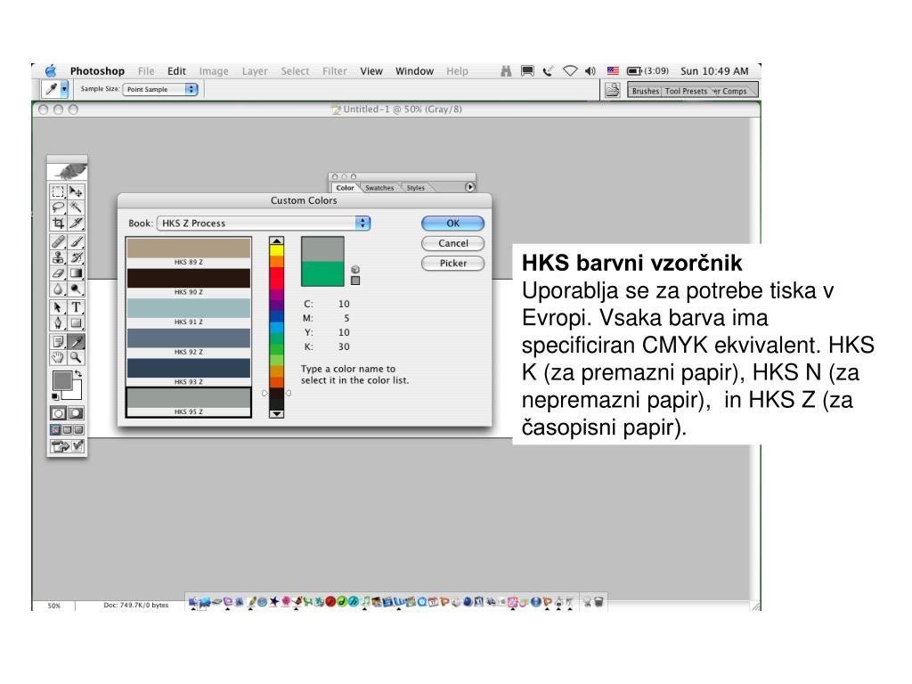 HKS barvni vzorčnik