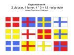 flagkombinatorik 2 pladser 4 farver 4 3 12 muligheder udregn p gult kors p bl kant