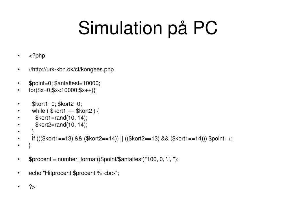 Simulation på PC