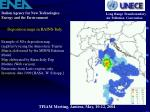 deposition maps in rains italy