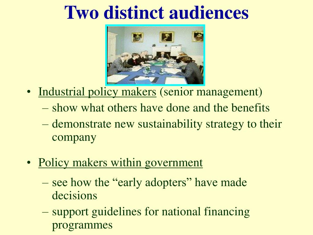 Two distinct audiences