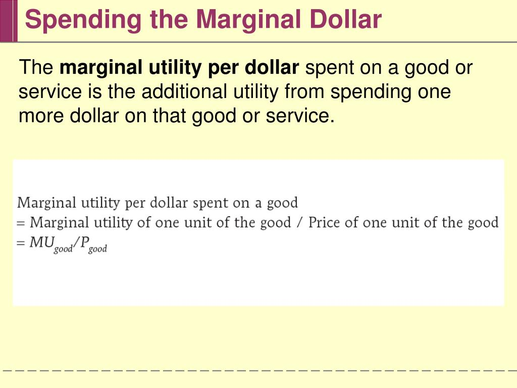 Spending the Marginal Dollar