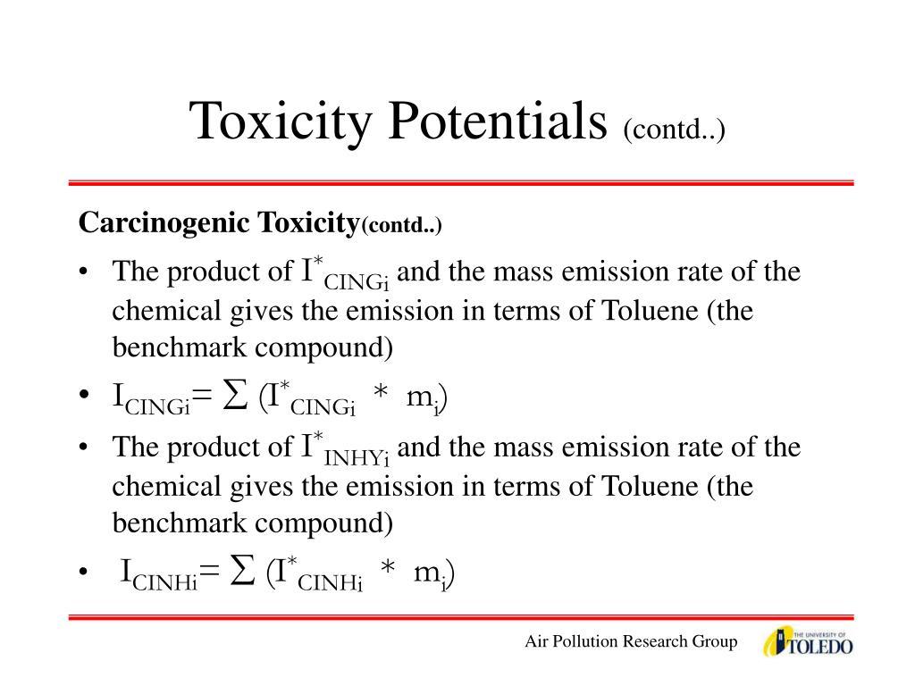 Toxicity Potentials