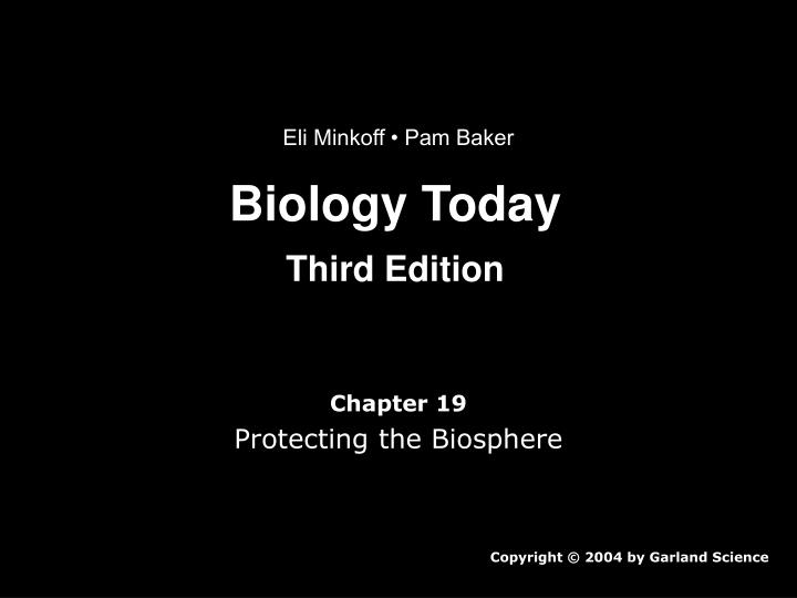 Biology today third edition