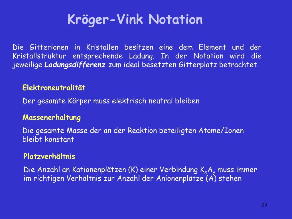 Kröger-Vink Notation