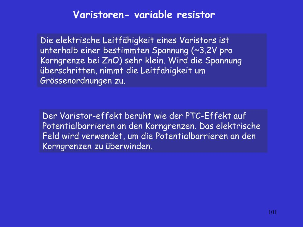 Varistoren- variable
