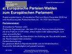 a europ ische parteien wahlen zum europ ischen parlament