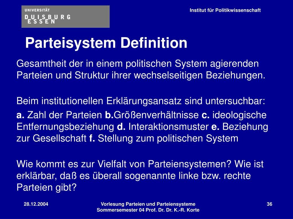 Parteisystem