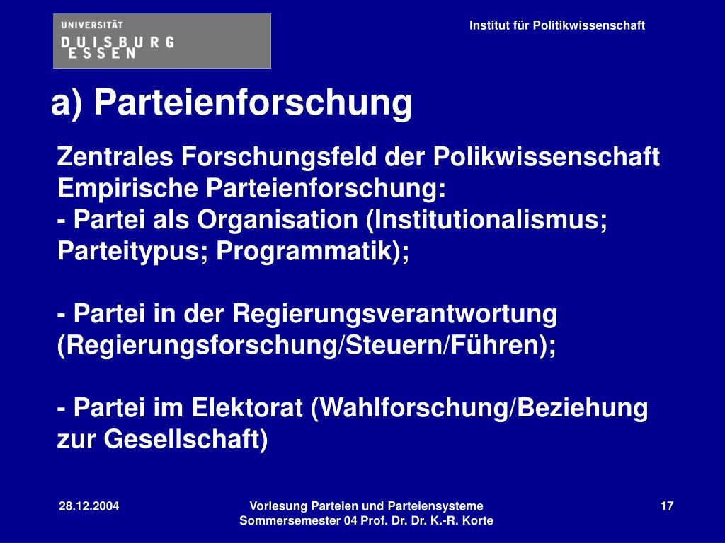 a) Parteienforschung