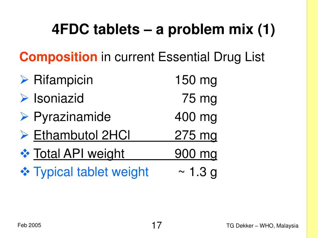 4FDC tablets – a problem mix (1)