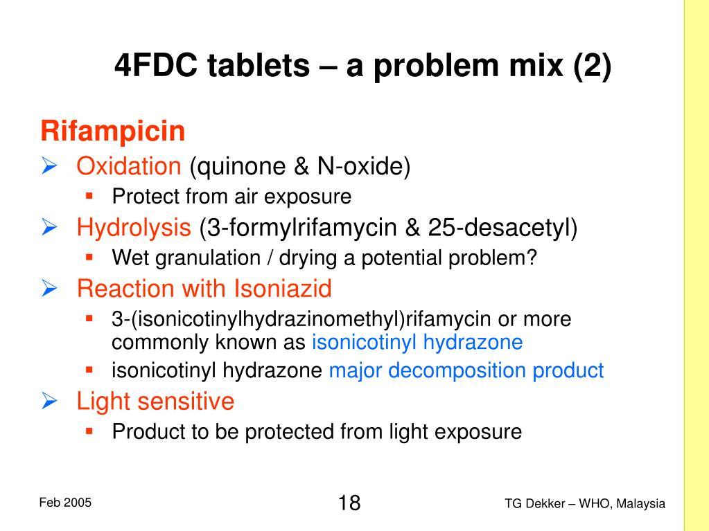 4FDC tablets – a problem mix (2)