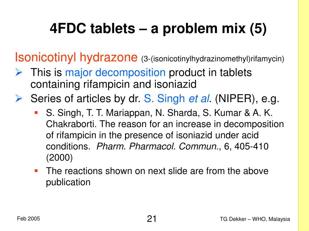 4FDC tablets – a problem mix (5)