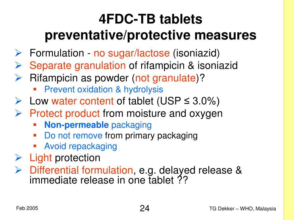 4FDC-TB tablets