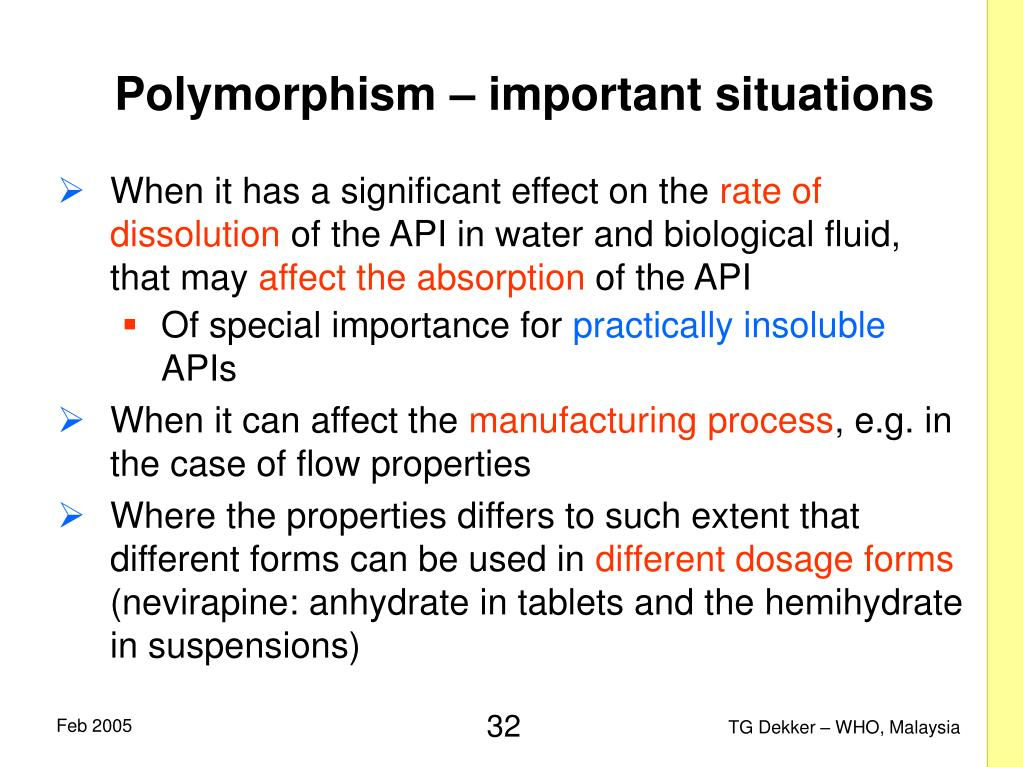 Polymorphism – important situations